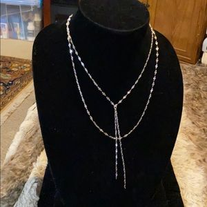 NWT Park Lane Whisper Necklace Silver